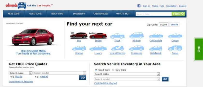Auto-information company Edmunds.com has sued a company that allegedly posted fake reviews of car dealers on its website.