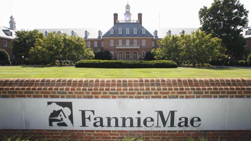 FILE - In this Aug. 8, 2011, photo, the Fannie Mae headquarters is seen in Washington. Fannie Mae re