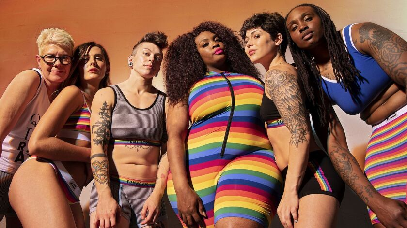 Brilliant rainbow stripes and sayings underscore the special collection from underwear brand TomboyX