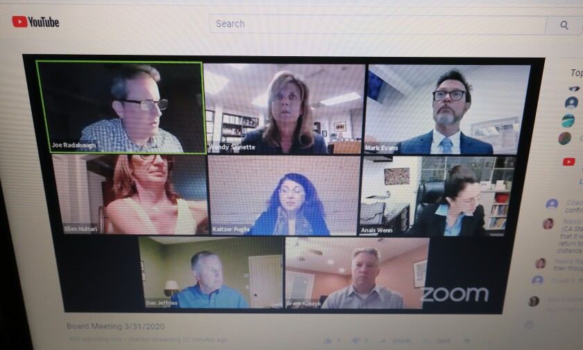 LCUSD board members convened Tuesday in a remote meeting to discuss updates on distance learning during the coronavirus pandemic.