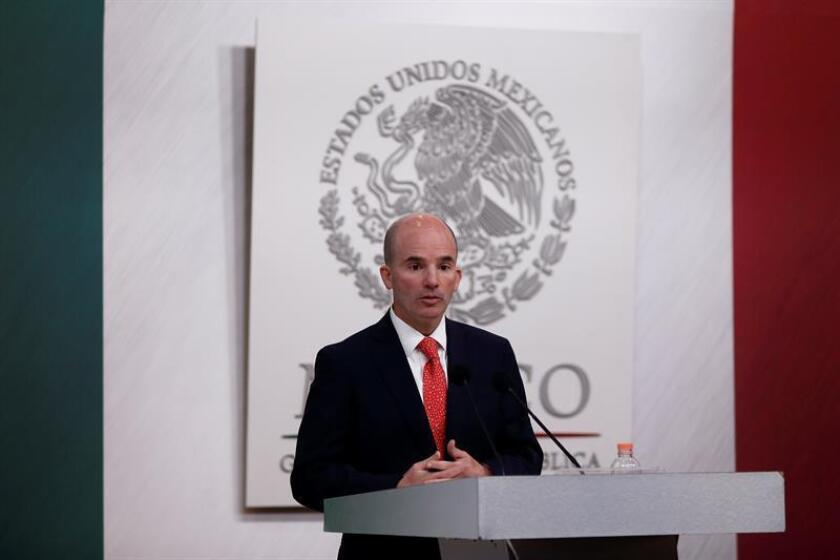 El secretario de Hacienda y Crédito Público, José Antonio González, durante una conferencia de prensa. EFE/Archivo