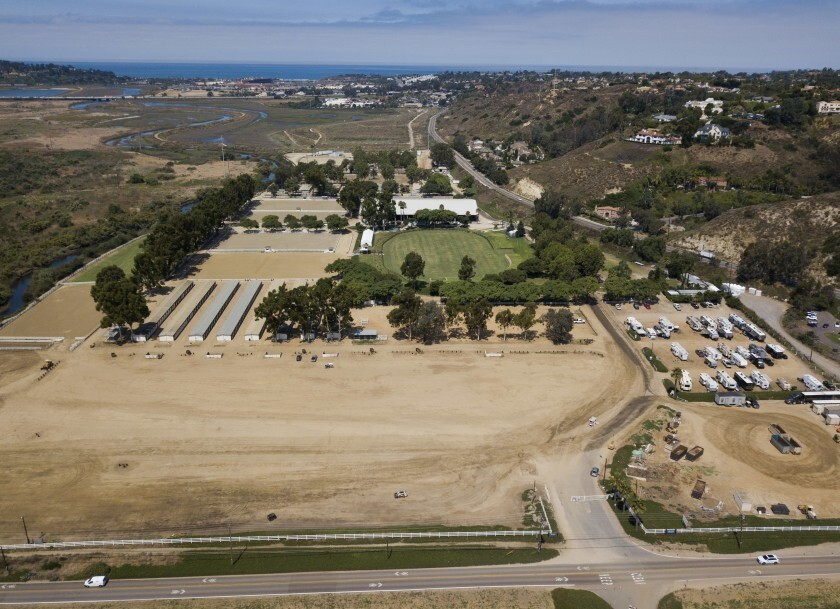 The Del Mar Horsepark will suspend shows and boarding in 2021.