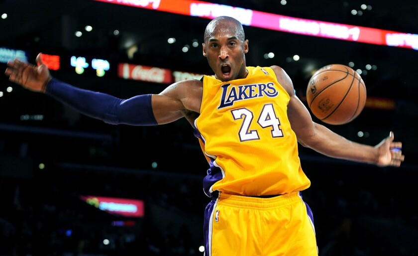Lakers star Kobe Bryant.