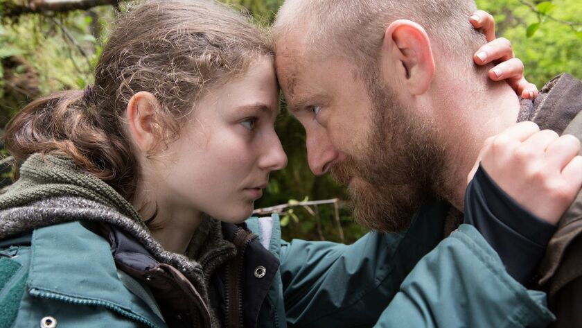 "Thomasin McKenzie and Ben Foster in ""Leave No Trace."""