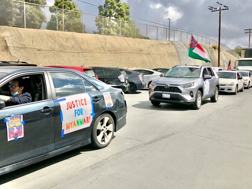 Myanmar rally in City Heights