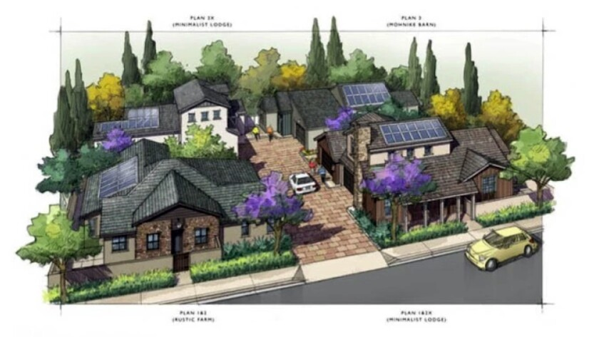 A rendering of the proposed Junipers project in Rancho Peñasquitos.