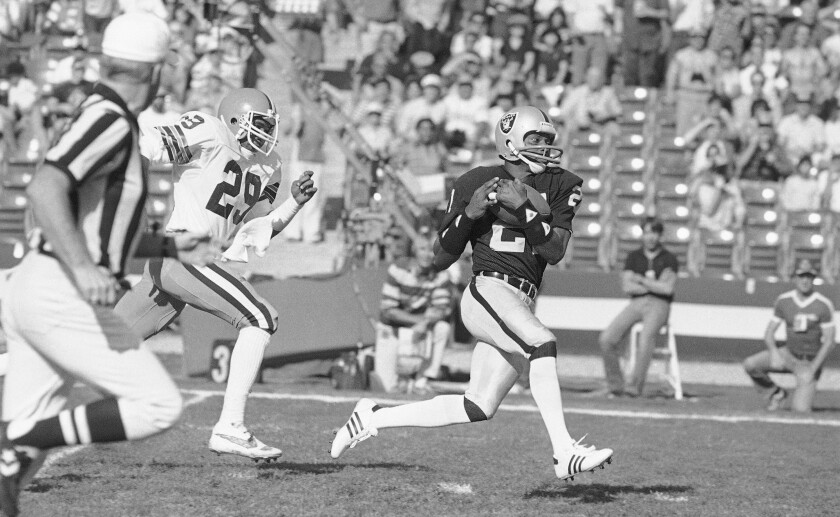 Raiders wide receiver Cliff Branch in 1983