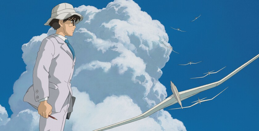 "A scene from the Hayao Miyazaki's ""The Wind Rises,"" which will be shown briefly in New York and Los Angeles in November to qualify for Oscar nomination."
