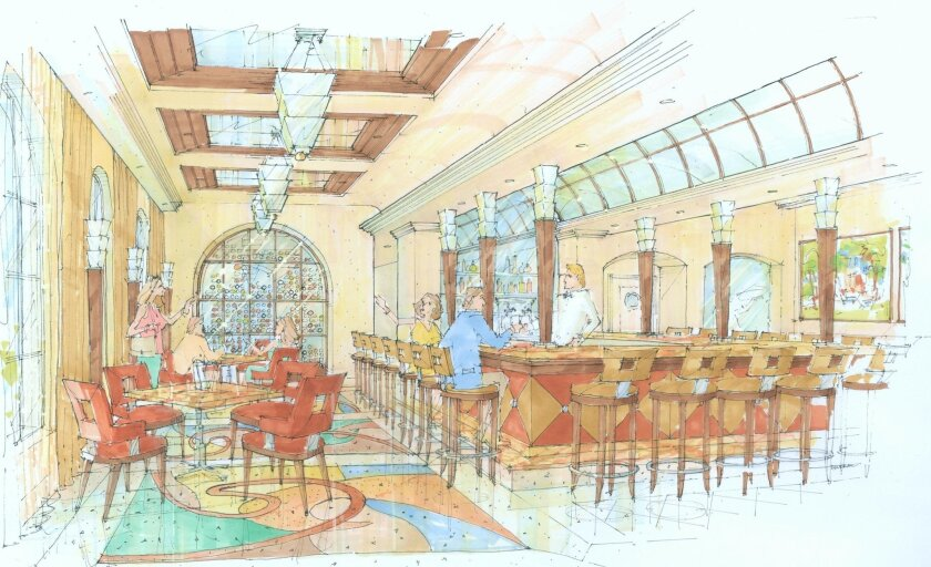 A rendering of the new Cafe La Rue that will reopen in the summer.