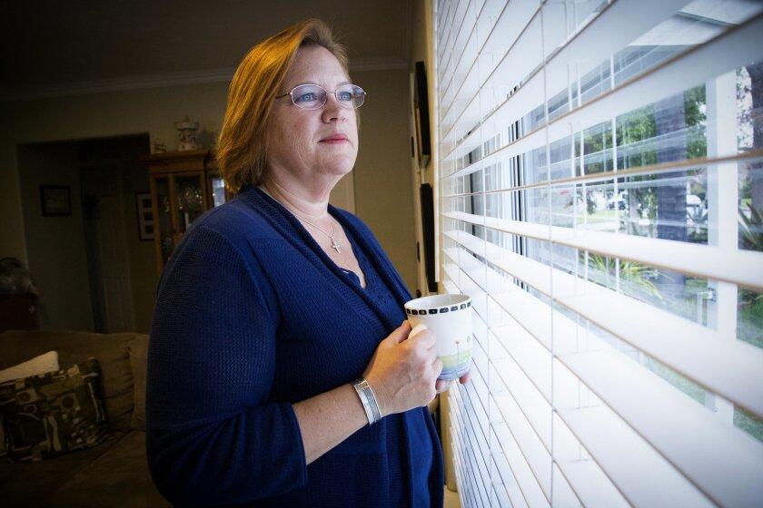 Nancy Anderson, at her home in La Mesa.