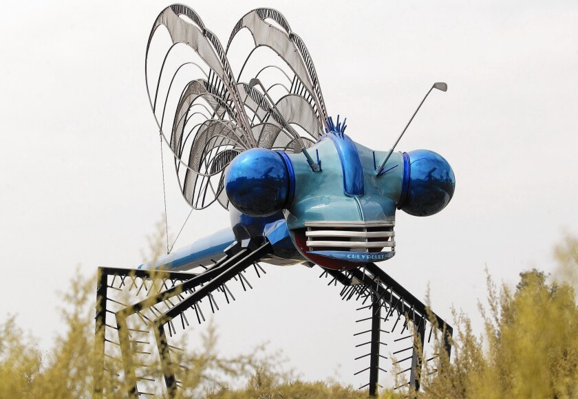 """Demoiselle,"" by LT Mustardseed, at Civic Center Park in Newport Beach on Friday, August 21."