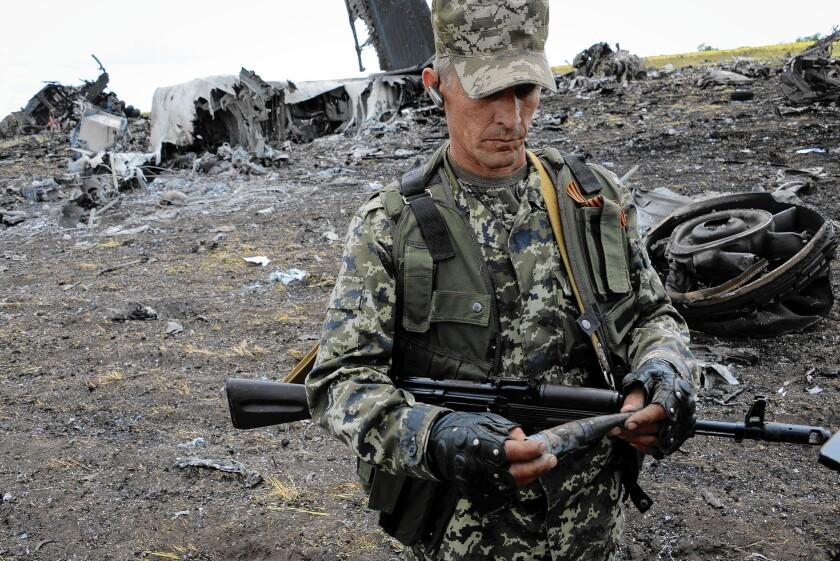 Pro-Russia fighter in Ukraine