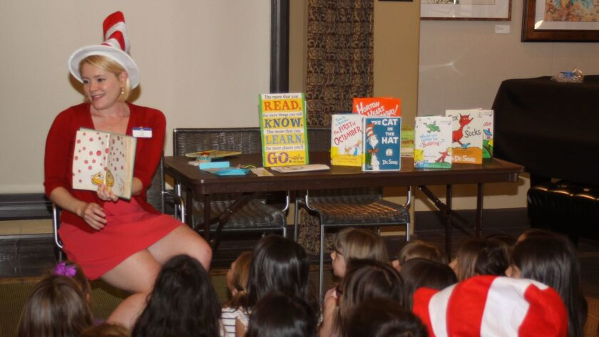 Youth Services librarian Angie Stava leads storytime