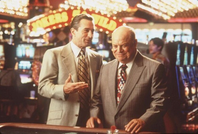 "Looking for Oscar betting tips? Don't go to these guys. Robert De Niro and Don Rickles in a scene from current Oscar nominee Martin Scorsese's 1995 ""Casino."""