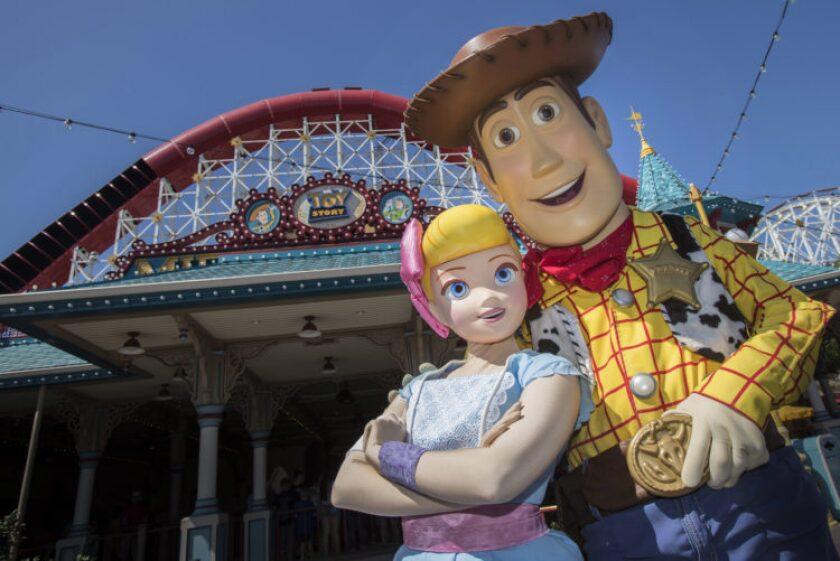 Bo Peep Arrives at Pixar Pier in Disney California Adventure Park