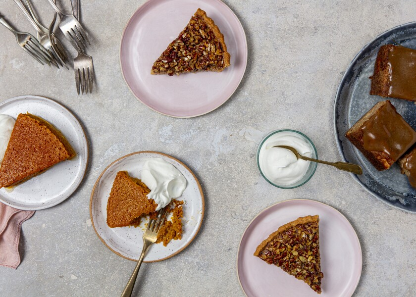 A spread of desserts for Thanksgiving