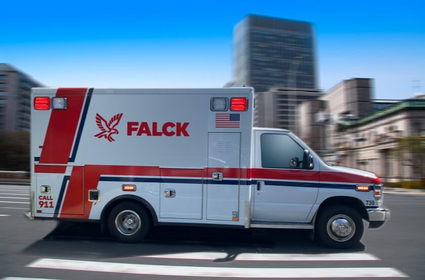 A Falck ambulance