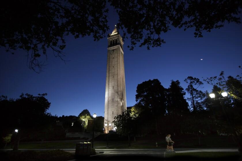 The landmark Campanile on the UC Berkeley campus.