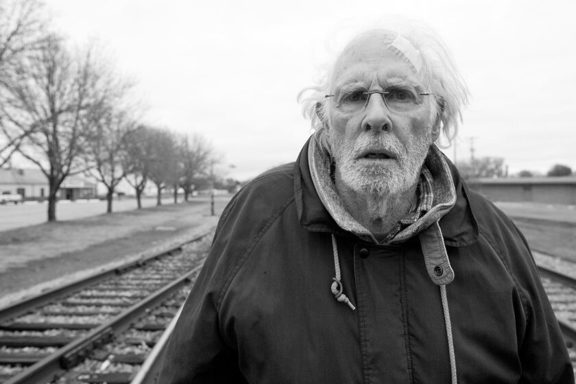 """Nebraska"" stars Bruce Dern as Woody Grant, a Montana man who decides to travel to Omaha to claim a $1 million sweepstakes prize he thinks he's won."