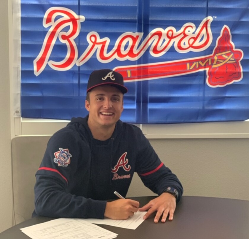Encinitas' Ethan Workinger signs with the Atlanta Braves.