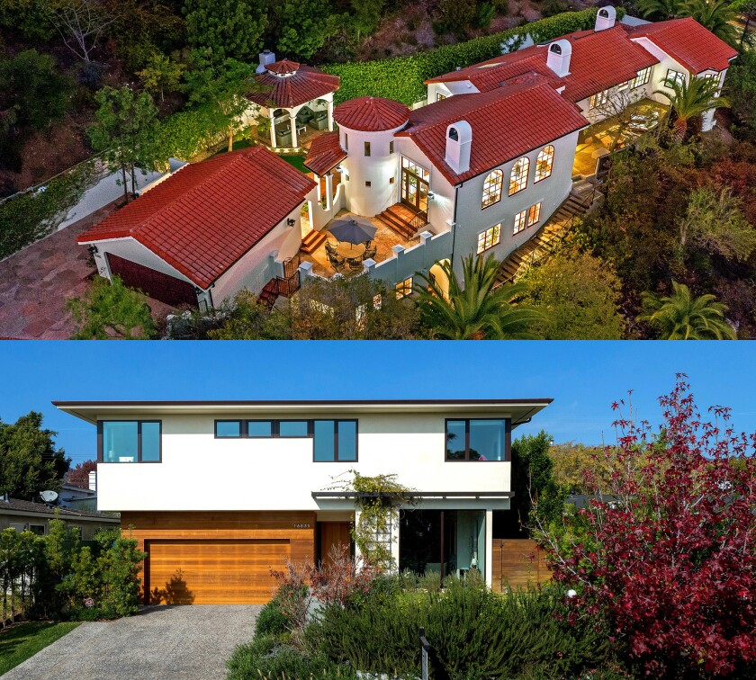 In the $4-million range, which would you prefer: a charming Spanish home high in the hills or a sleek modern residence that's closer to the water?