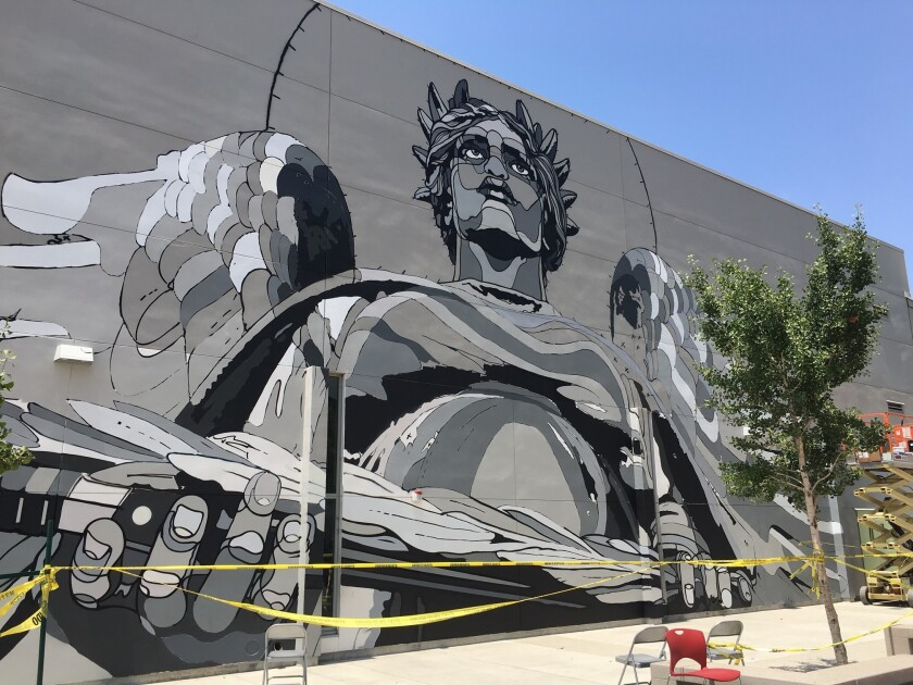 A new mural by David Flores.