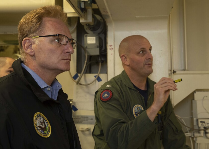 Acting SECNAV Modly Visits Ford
