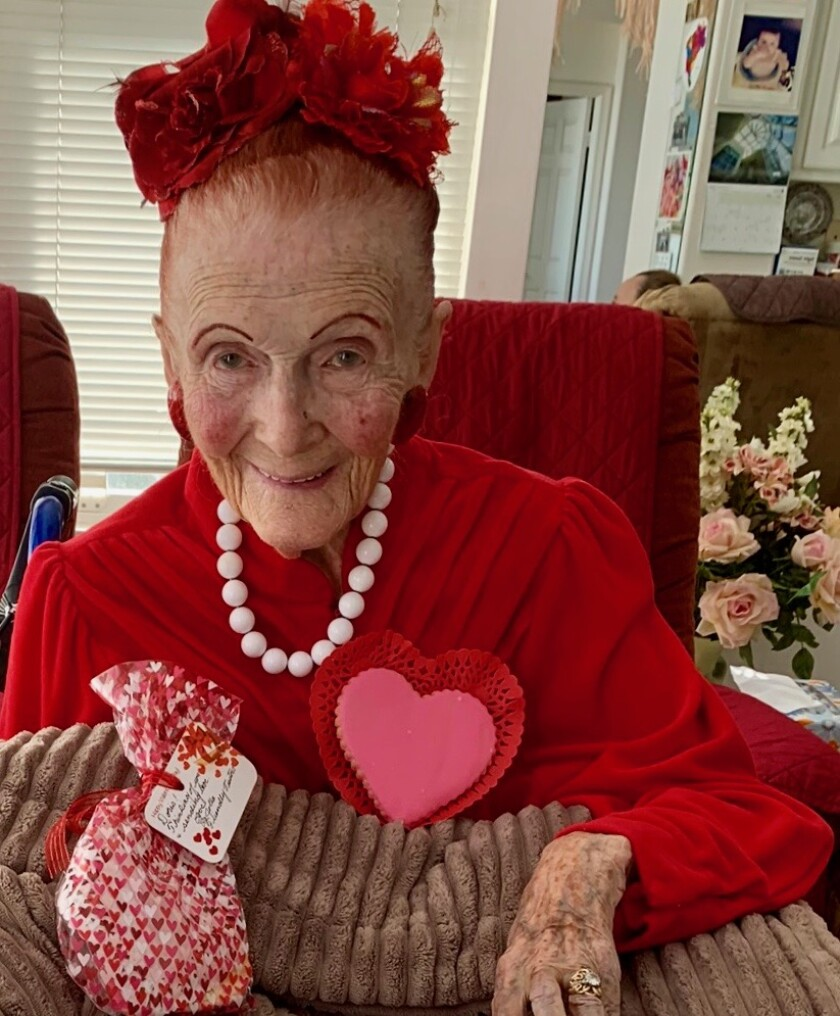 Doris Sutton turned 100 on March 25, 2020.