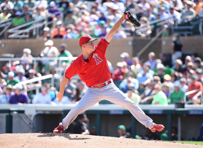 Angels relief pitcher Drew Rucinski is vying for one of the team's final roster spots.
