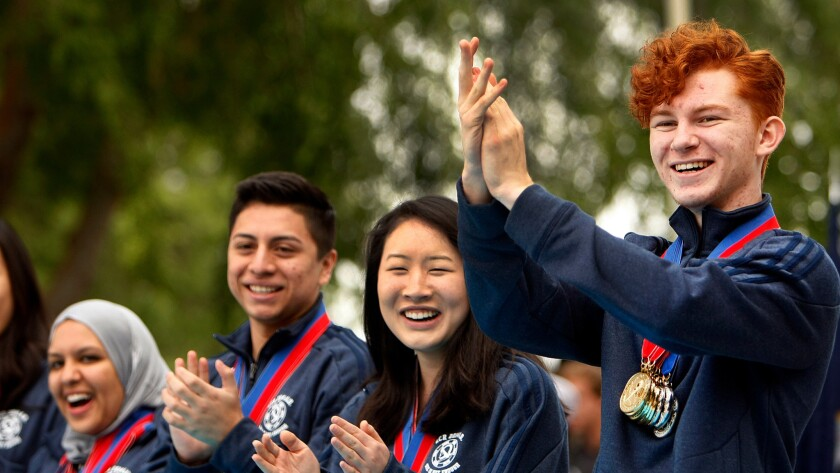 In 2014, El Camino Real Charter High students won the national Academic Decathlon. This week, the school received notice that its charter to operate could be revoked.