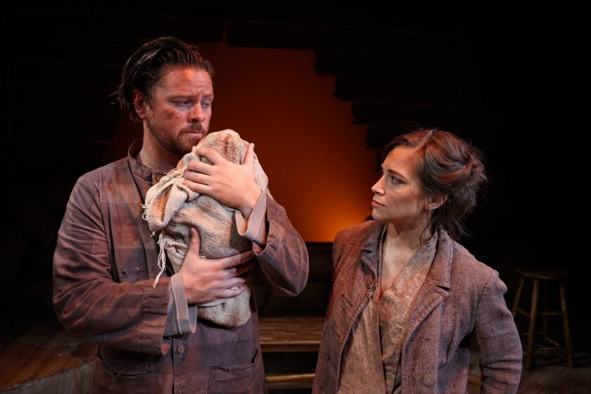 """Richard Baird and Sarah Fetgatter in """"Way Downriver."""""""