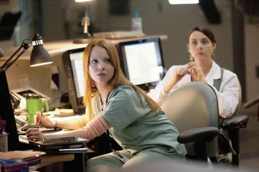 """Lauren Ambrose as Susan Wheeler in """"Coma"""" on A&E;."""