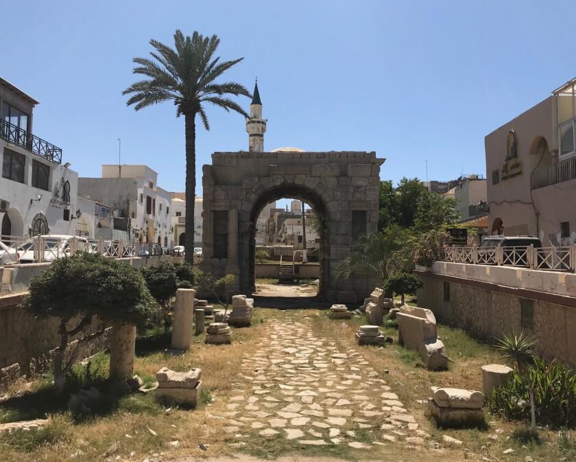 TripoliÕs Marcus Aurelius arch, one of the cityÕs most recognizable landmarks.