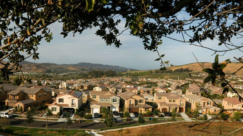 SAN JUAN CAPISTRANO, CA., JUNE 21, 2016: The Rancho Mission Viejo neighborhood of Sendero near San