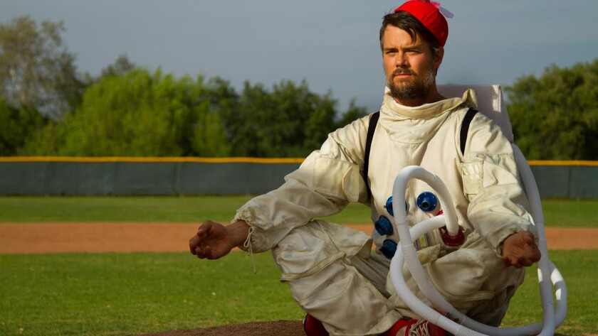 "Josh Duhamel as pitcher Bill Lee in the movie ""Spaceman."""