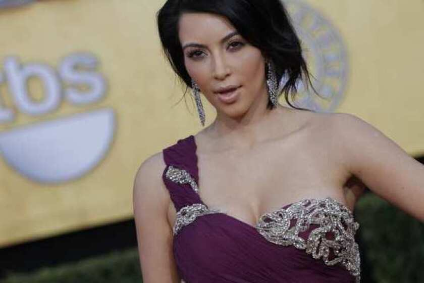 Reality TV star Kim Kardashian, seen here at the 2011 Screen Actors Guild Awards in Los Angeles, has said she wants to run for mayor of Glendale.