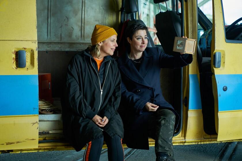 "Mel Giedroyc and  Sue Perkins in ""Hitmen"""