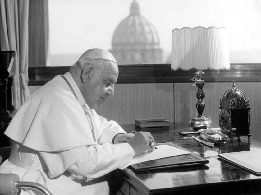 Image result for pope john XXIII in 1961