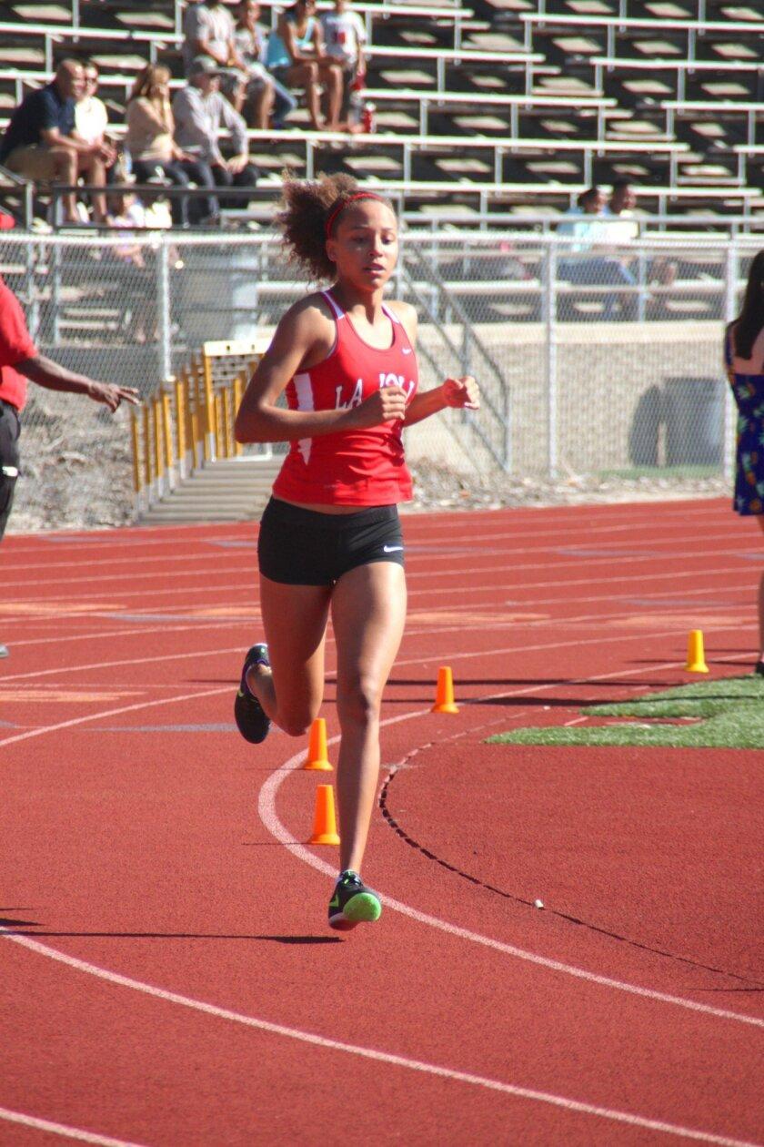 La Jolla Track & Field star Sierra Roberson