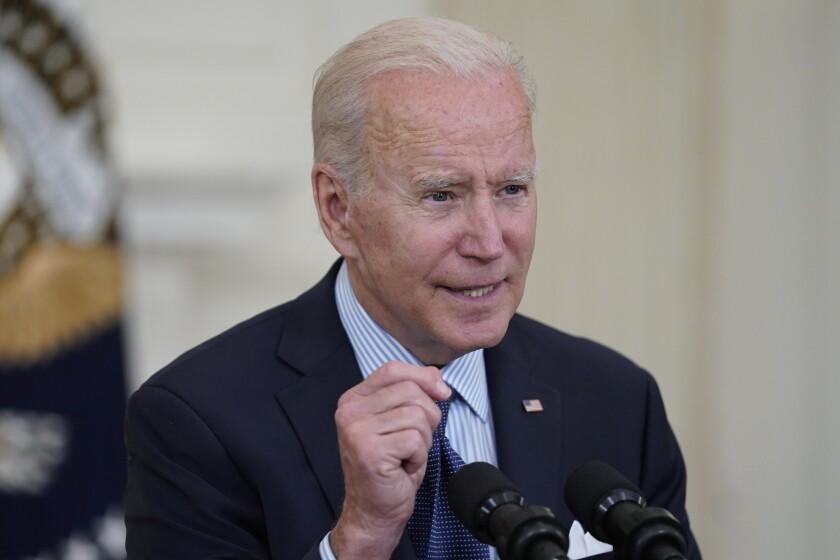 President Biden speaks at the White House