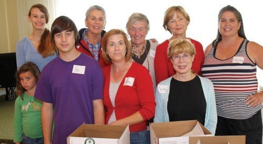 Front: Hannah Johnson, Ari Jam, Mary Jam, Cynthia Harrison; back: Hayley Cunningham, Ginger Bord, Shirley Corless, Pat Merino, Suzanne Johnson (Photo: Jon Clark)
