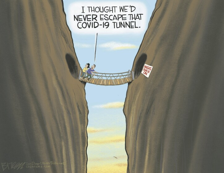 Americans want to be over COVID-19 in this Breen cartoon