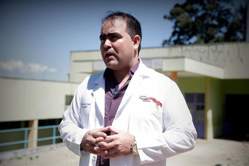 """Cuban doctor Yennier Escobar, 33, poses at the facilities of the Basic Health Unit """"Nova Bom Sucesso"""", on Jan. 28, 2019, in Guarulhos, Sao Paulo state, Brazil. Labeled """"deserters"""" in their homeland and unable to practice medicine in Brazil, some 2,500 Cuban doctors are trying to survive after refusing to return to Cuba following the termination of the Mas Medicos (More Doctors) medical assistance program due to differences between President Jair Bolsonaro and Havana. EPA-EFE / Fernando Bizerra Jr."""