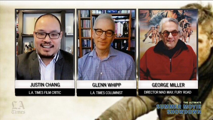 "Los Angeles Times critic Justin Chang and entertainment columnist Glenn Whipp host week 3 of ""The Ultimate Movie Summer Showdown"" with a discussion with director George Miller of ""Mad Max: Fury Road."""