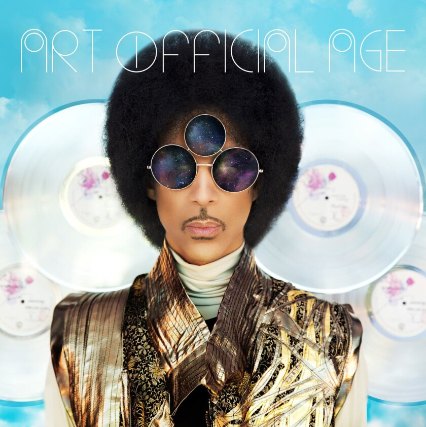 "The CD cover for Prince's ""Art Official Age"" album release."