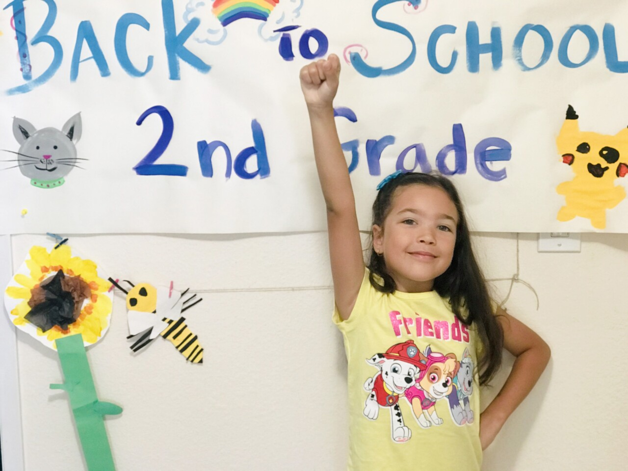 Second grader Charlotte Meeks in the dual language Spanish immersion program.