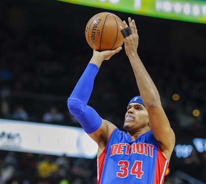 El alero reserva Tobias Harris aportó 25 puntos y lideró el ataque balanceado de los Pistons de Detroit. EFE/Archivo