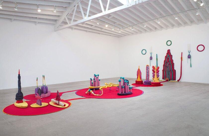 """Matthew Ronay, """"Organ/Oganelle,"""" installation view, Marc Foxx, 2014."""