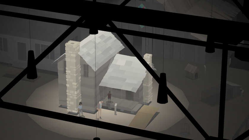 "One scene in ""Kentucky Route Zero"" has us view the homes of the poor and the working class as if they are on display in a museum."