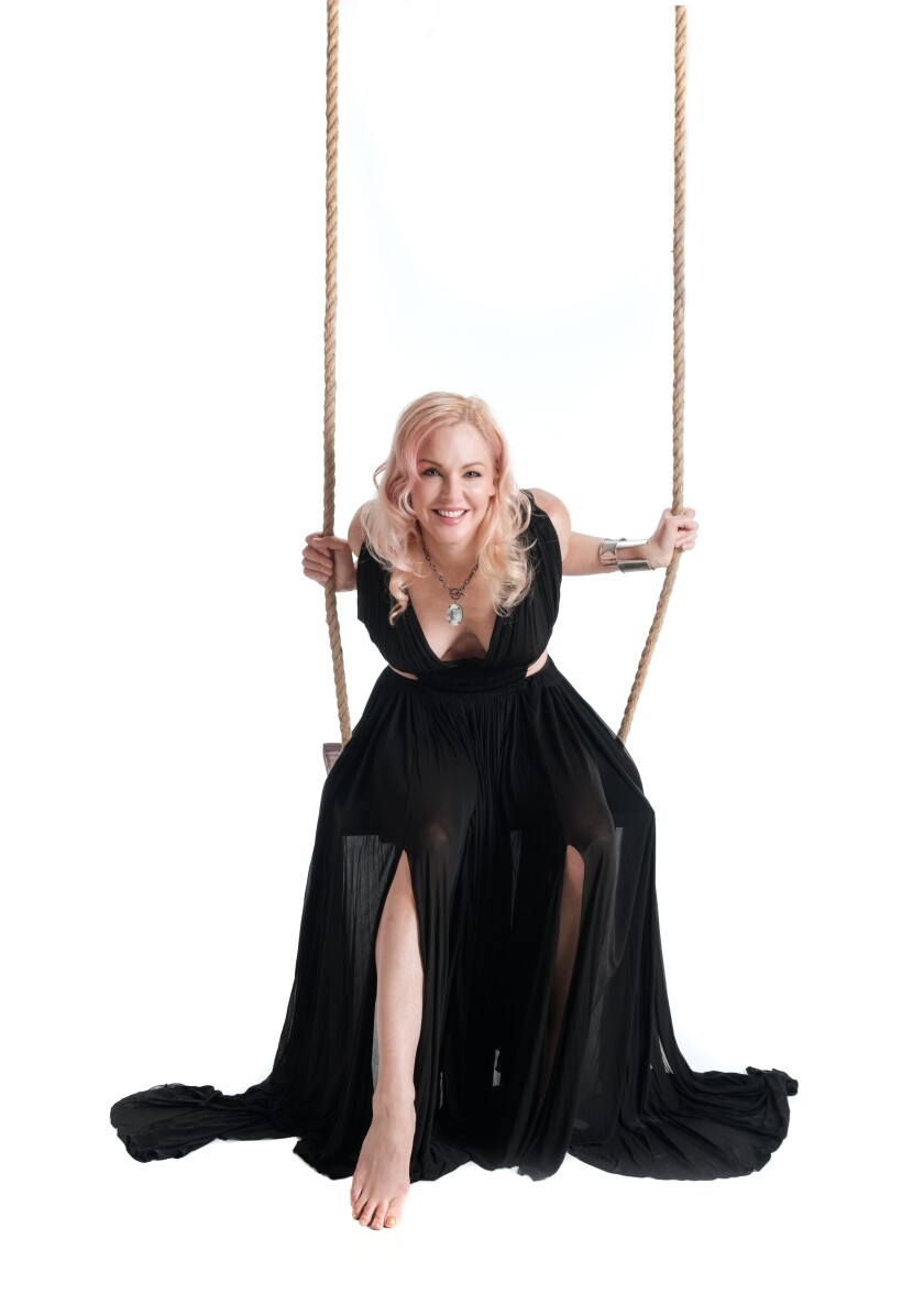 """""""I was a drug addict, trying not to not be a drug addict, trying to find a reason not to be a drug addict, trying to find someone to love me enough not to be an addict,"""" says Storm Large of her early life."""